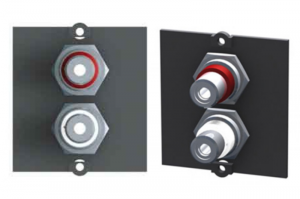 BACHMANN moduł audio/video 1 cinch stereo czarny 917.022