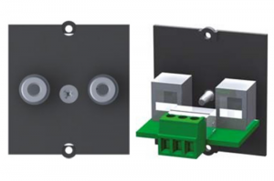 BACHMANN moduł audio/video 1 cinch stereo czarny 917.089