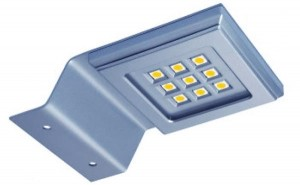 GTV-LED Konik kwadrat 9 led chrom Z/B