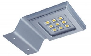 GTV-LED Konik kwadrat 9 led alu Z/B