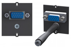 BACHMANN moduł audio/video1 VGA+mini stereo jack czarny