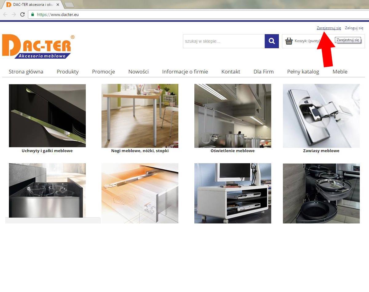 W celu uzyskania statusu klienta b2b wymagana jest pełna rejestracja w sklepie internetowym